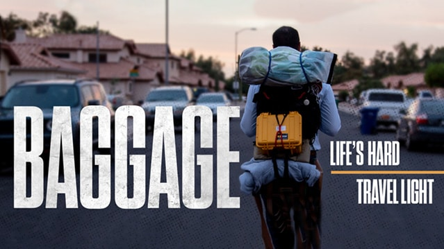 Challenges in life can leave us with a lot of baggage.